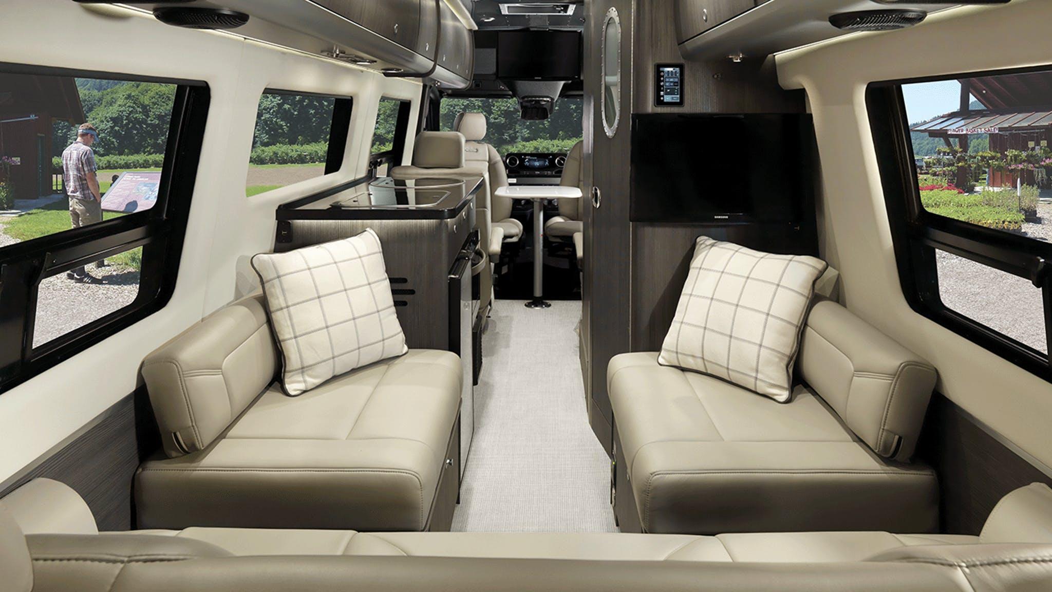 2020 Airstream Interstate Lounge Interior Modern Greige