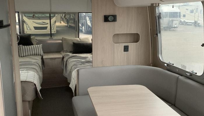 Globetrotter 23FB Interior Airstream Travel Trailer RV Camper Trailer