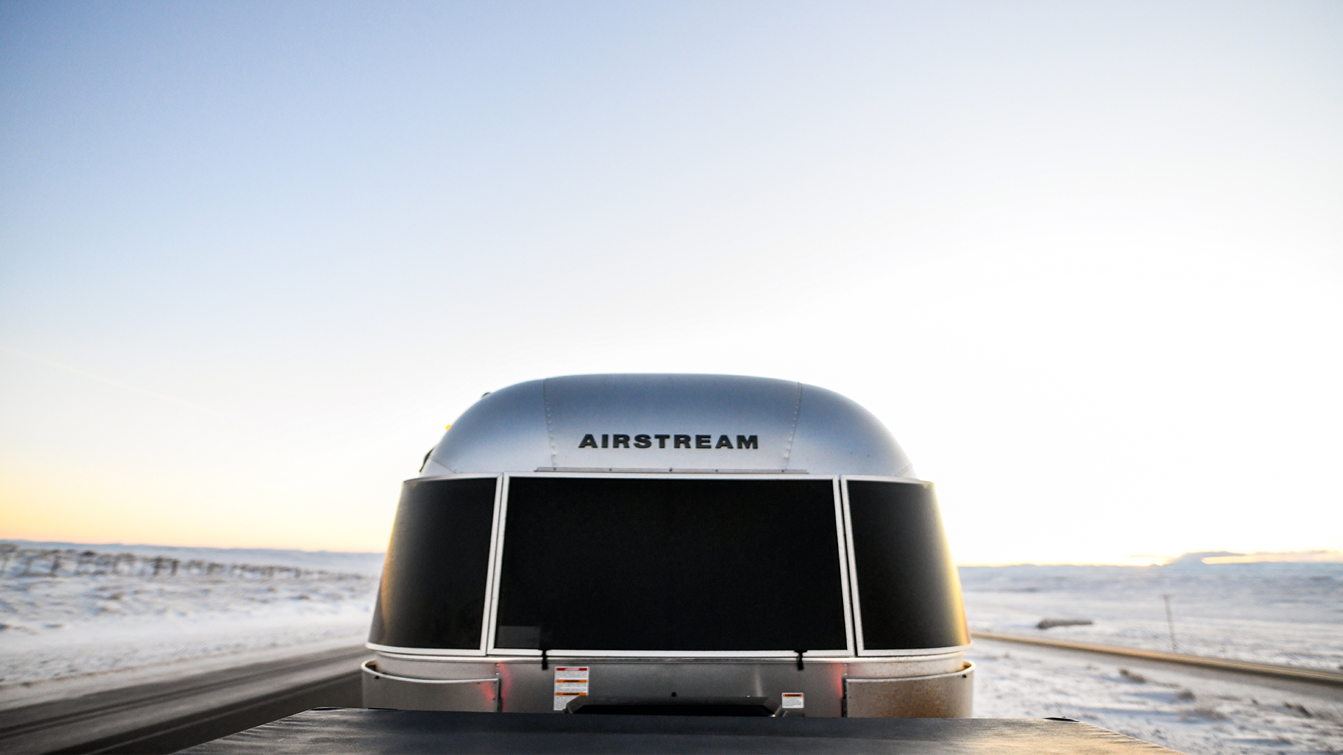 Airstream-Travel-Trailer-Towed-in-Winter