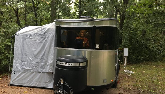 Airstream Travel Trailer RV Camper Trailer Basecamp with Tent Attachment