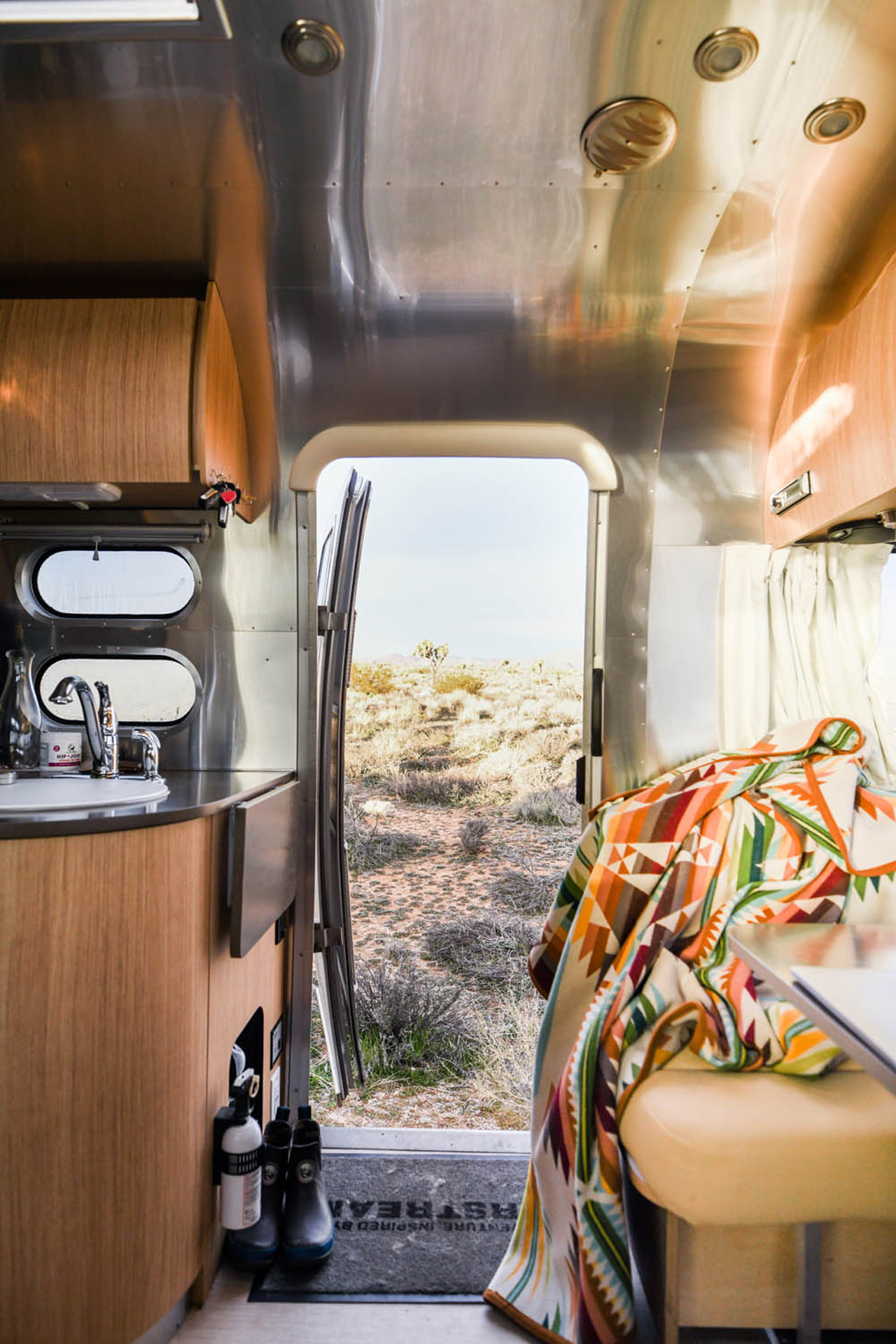 Inside Airstream Flying Cloud Travel Trailer RV