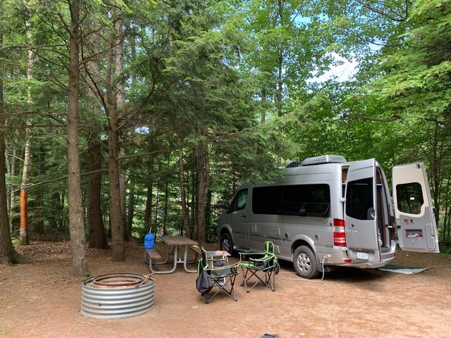 Airstream Interstate Nineteen at campsite