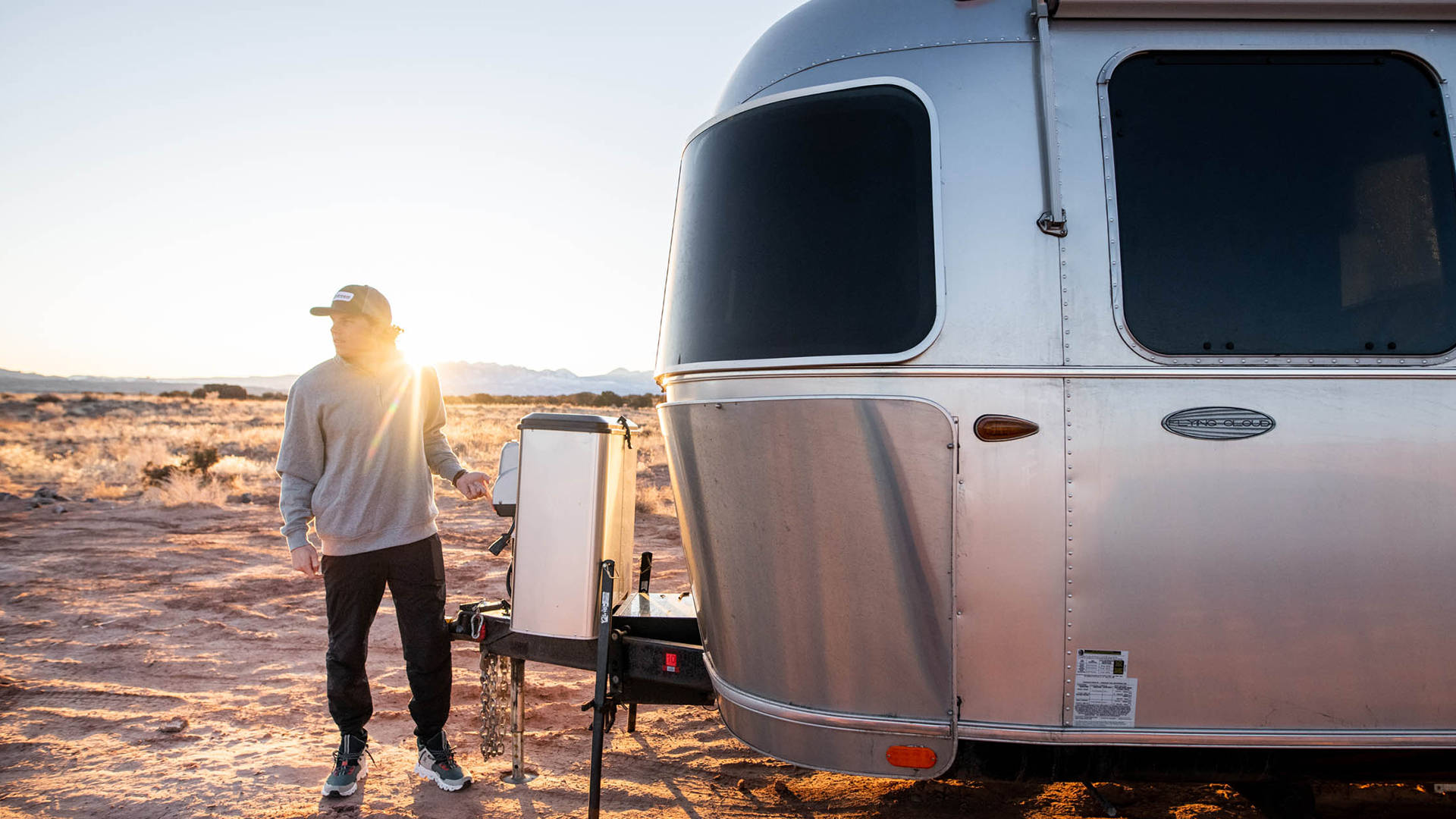 Airstream-Travel-Trailer-Towing-Hitched