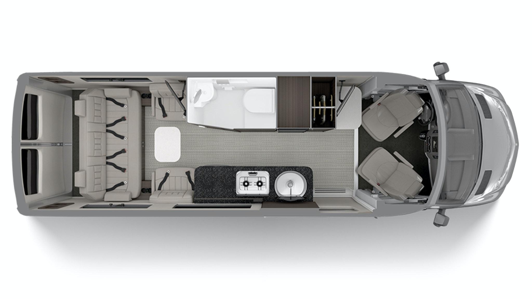 Airstream Interstate Grand Tour Floor Plan in Modern Greige
