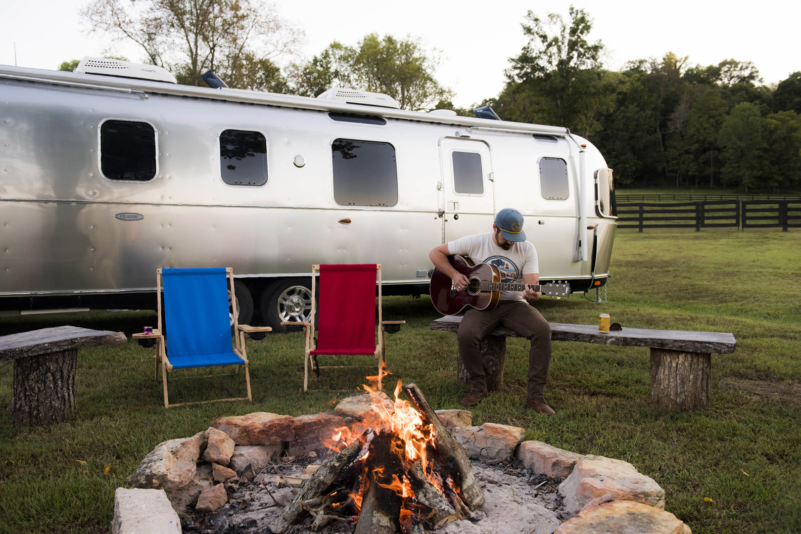 Airstream Photography Musician and Campfire ASC 8