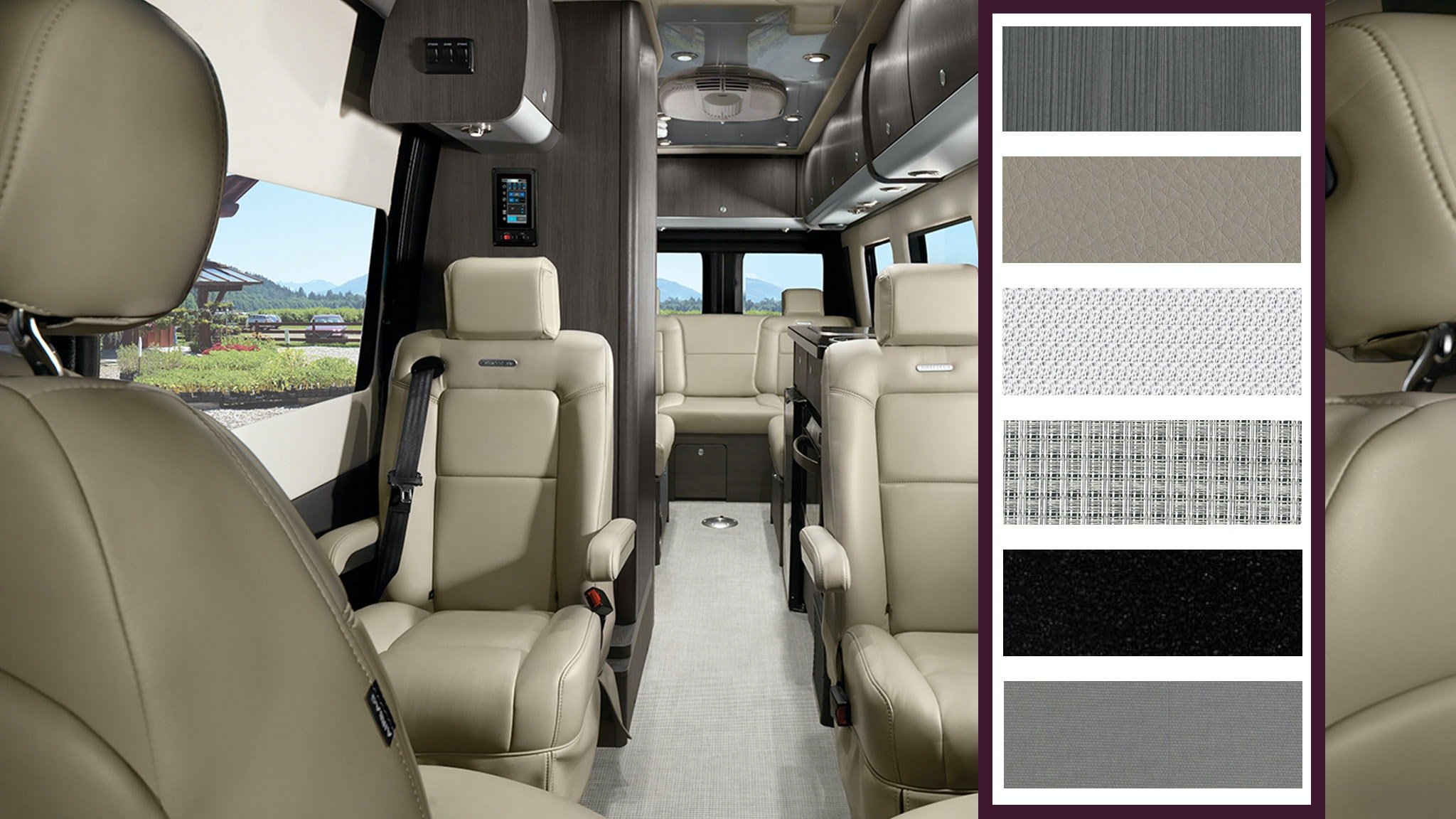 Modern Greige Interior Touring Coach Airstream Color Swatches