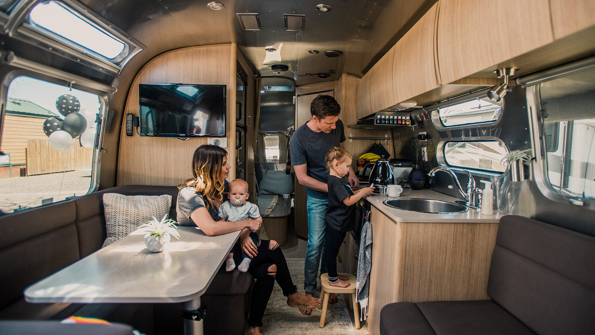 Family-Traveling-Together-in-Airstream-Flying-Cloud