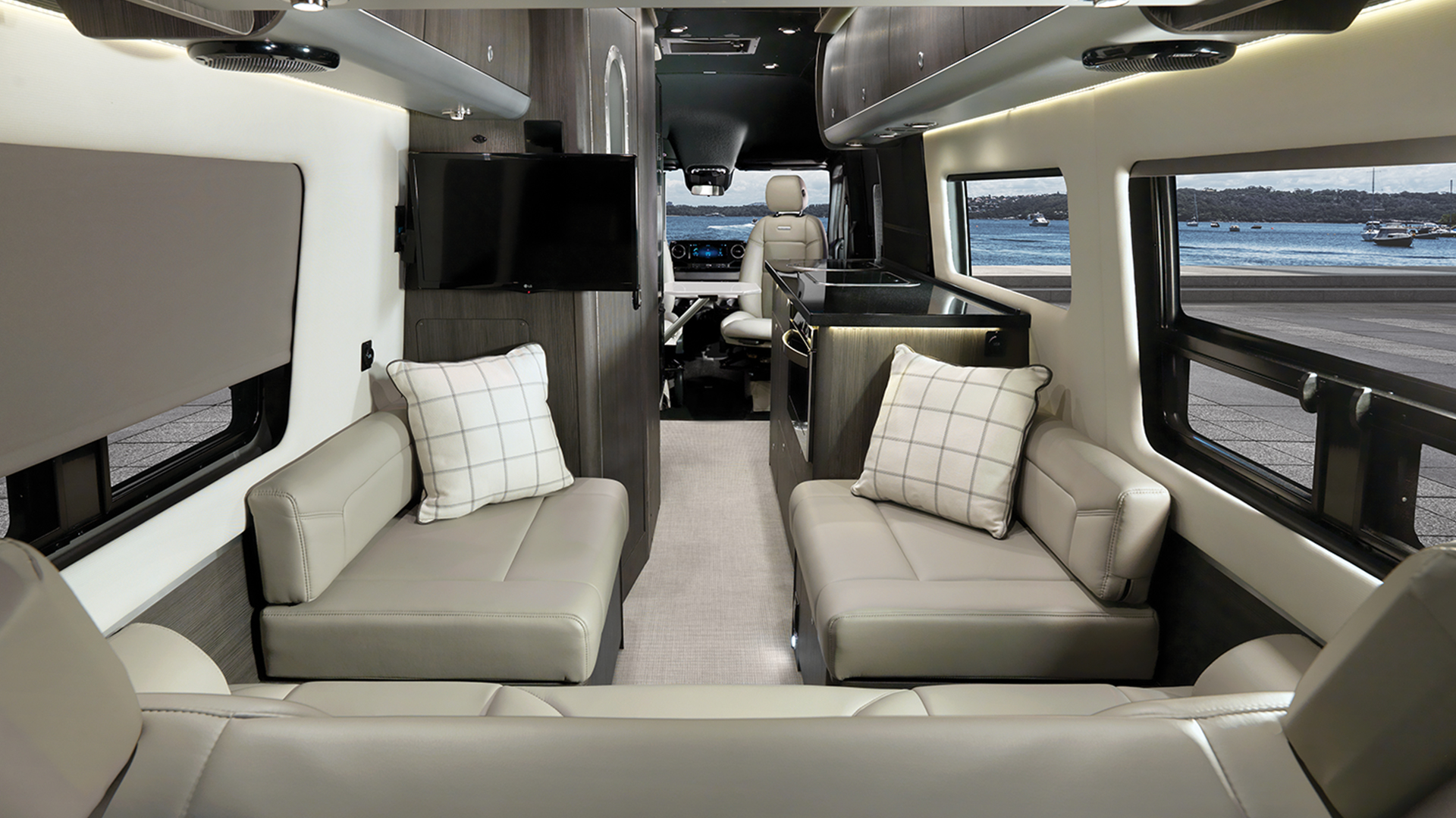 Airstream-Powered-Bed-Interstate-24-Powered-Lounge-Up