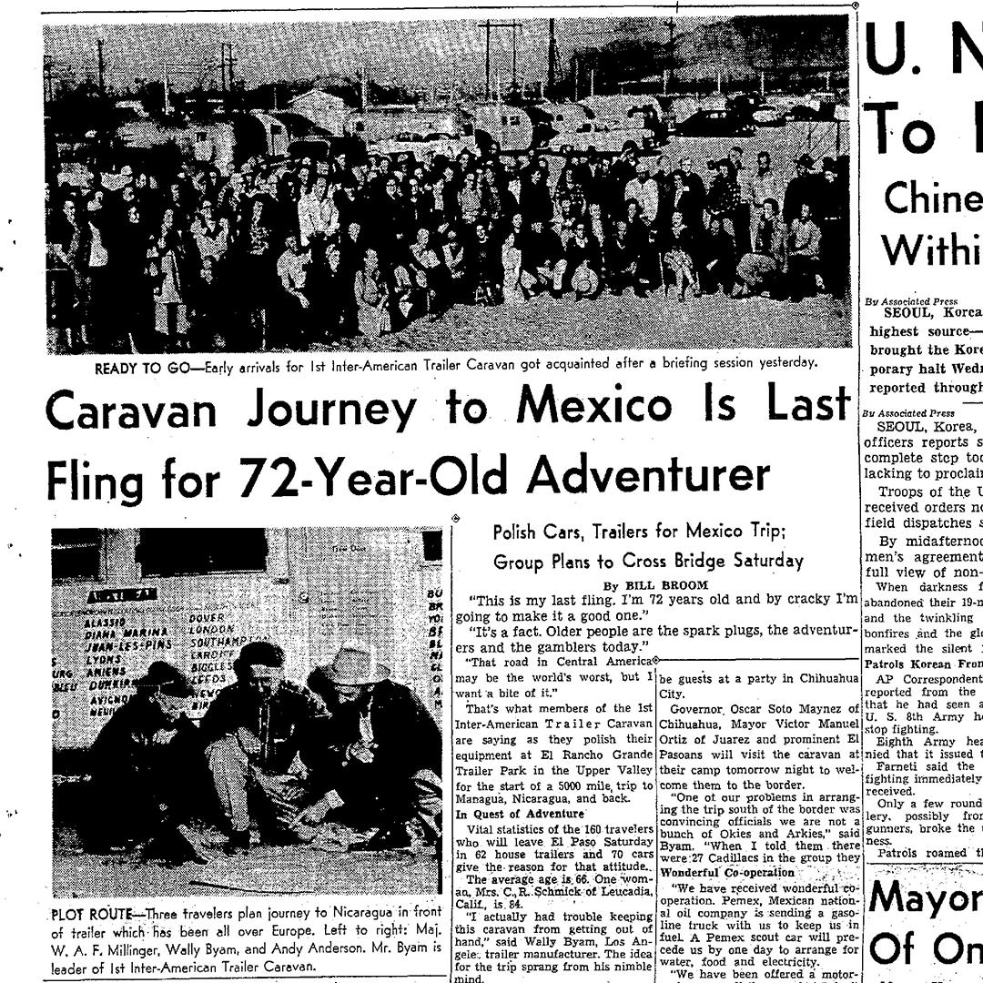 1951-1952-Airstream-Caravan-Mexico-Central-America-El-Paso-Herald-News-Article
