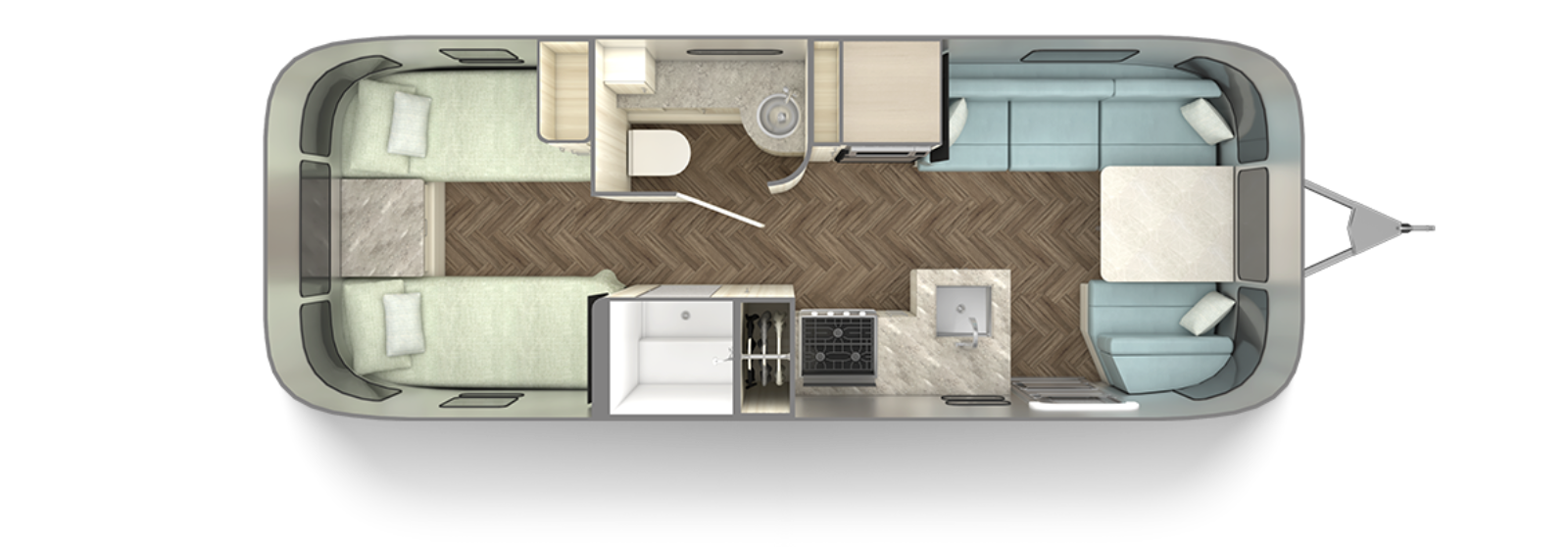2021-Airstream-International-25RB-floor-plan-twin-aqua