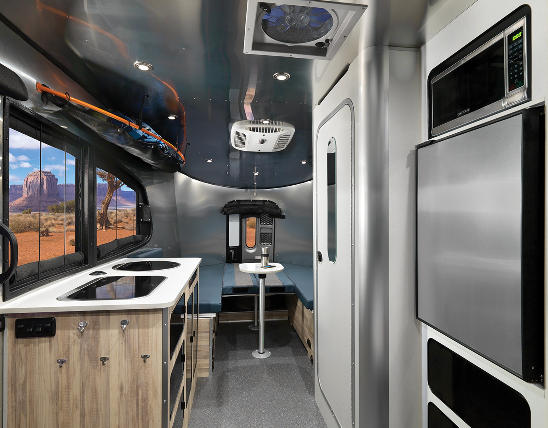Airstream-Basecamp-20-Glacier-Lake-Interior-F2B-One-Table-U-Seating