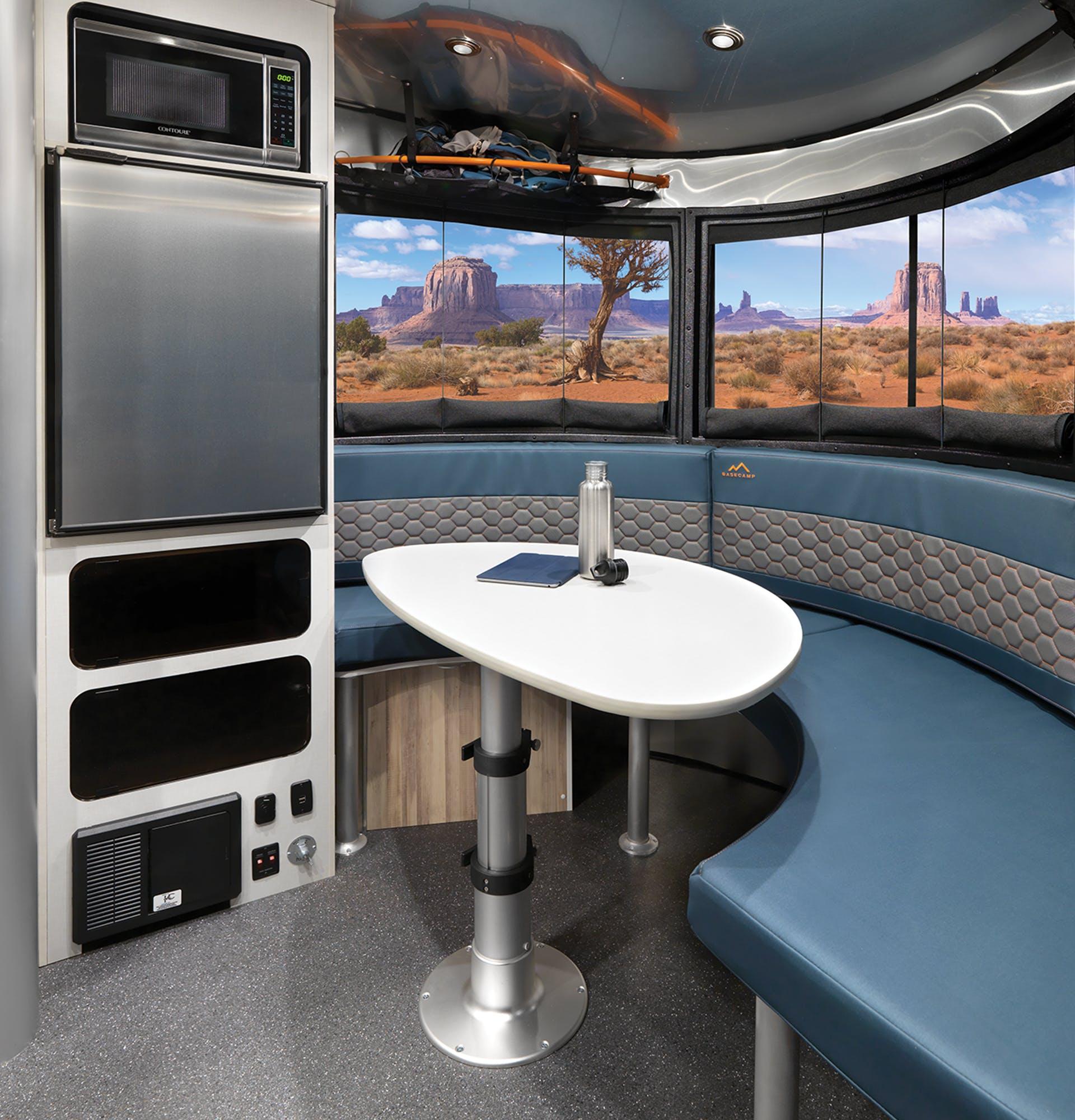 Airstream-Basecamp-20-Glacier-Lake-Table-Dinette-Up
