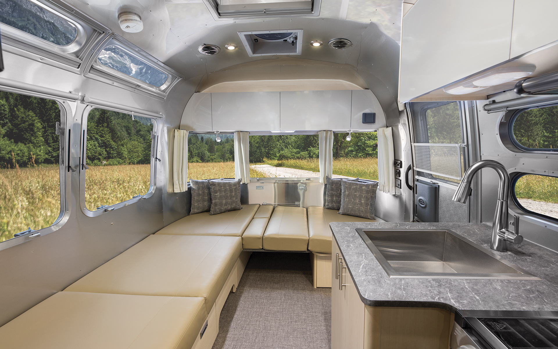 Airstream-Flying-Cloud-Carolina-Clay-23CB-Galley-and-Dinette-Conversion-Down
