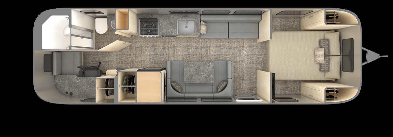Airstream-Flying-Cloud-30FB-Office-Seattle-Mist-floor-plan