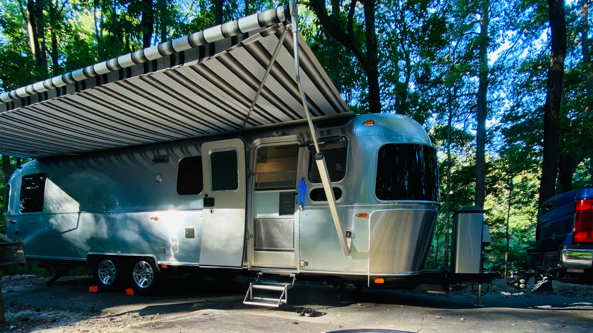 Airstream Classic Trailer at a campground