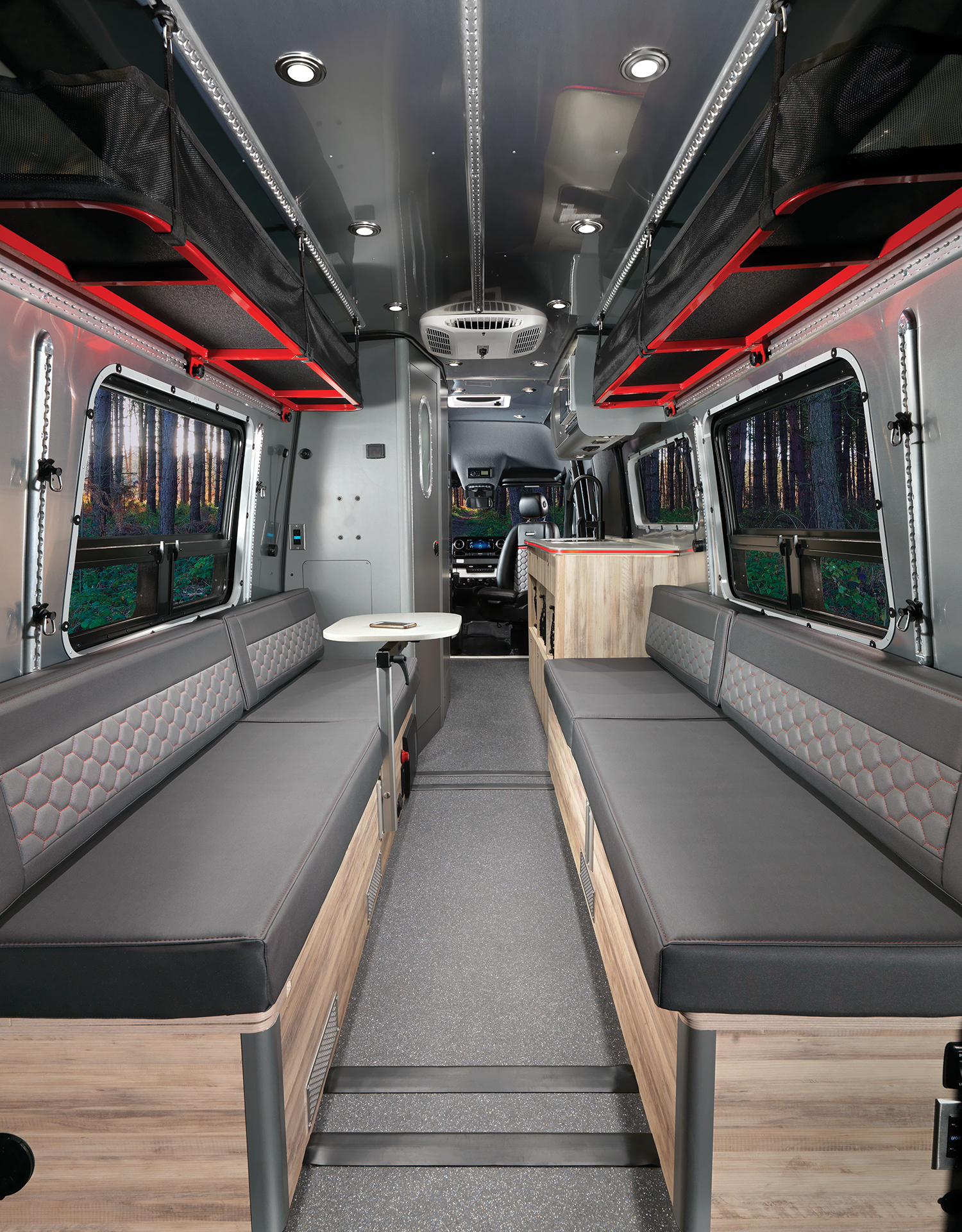 Airstream-Interstate-24X-Interior-Back-to-Front-with-Table-up