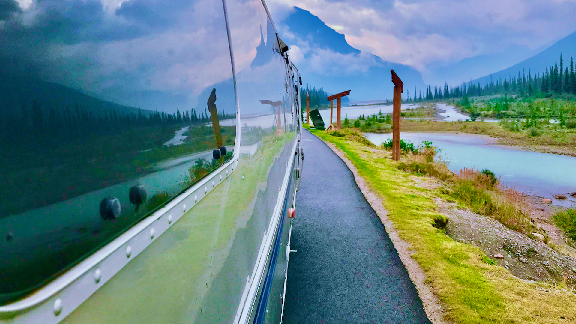 Airstream in the mountains