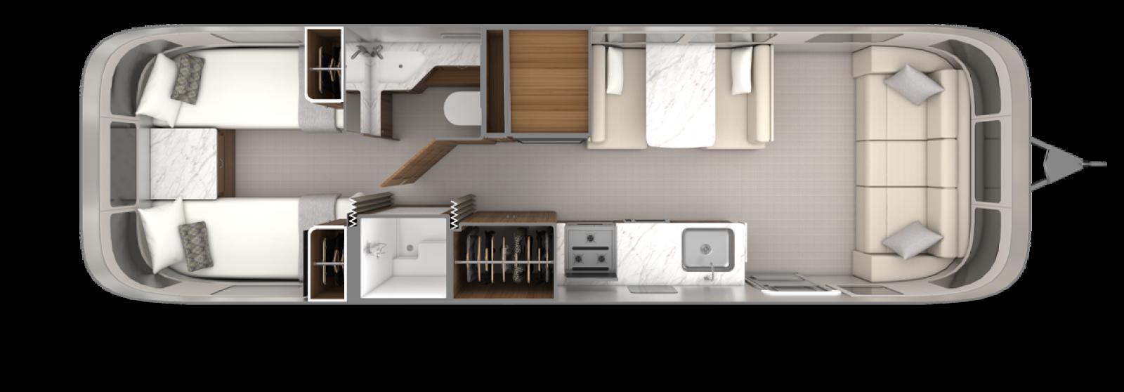 2022_Classic30RB_Floorplan_EstateBrown_Chamomile_Twin
