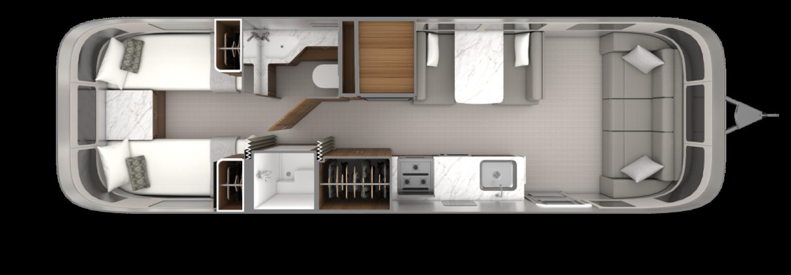 2022_Classic30RB_Floorplan_EstateBrown_EarlGrey_Twin