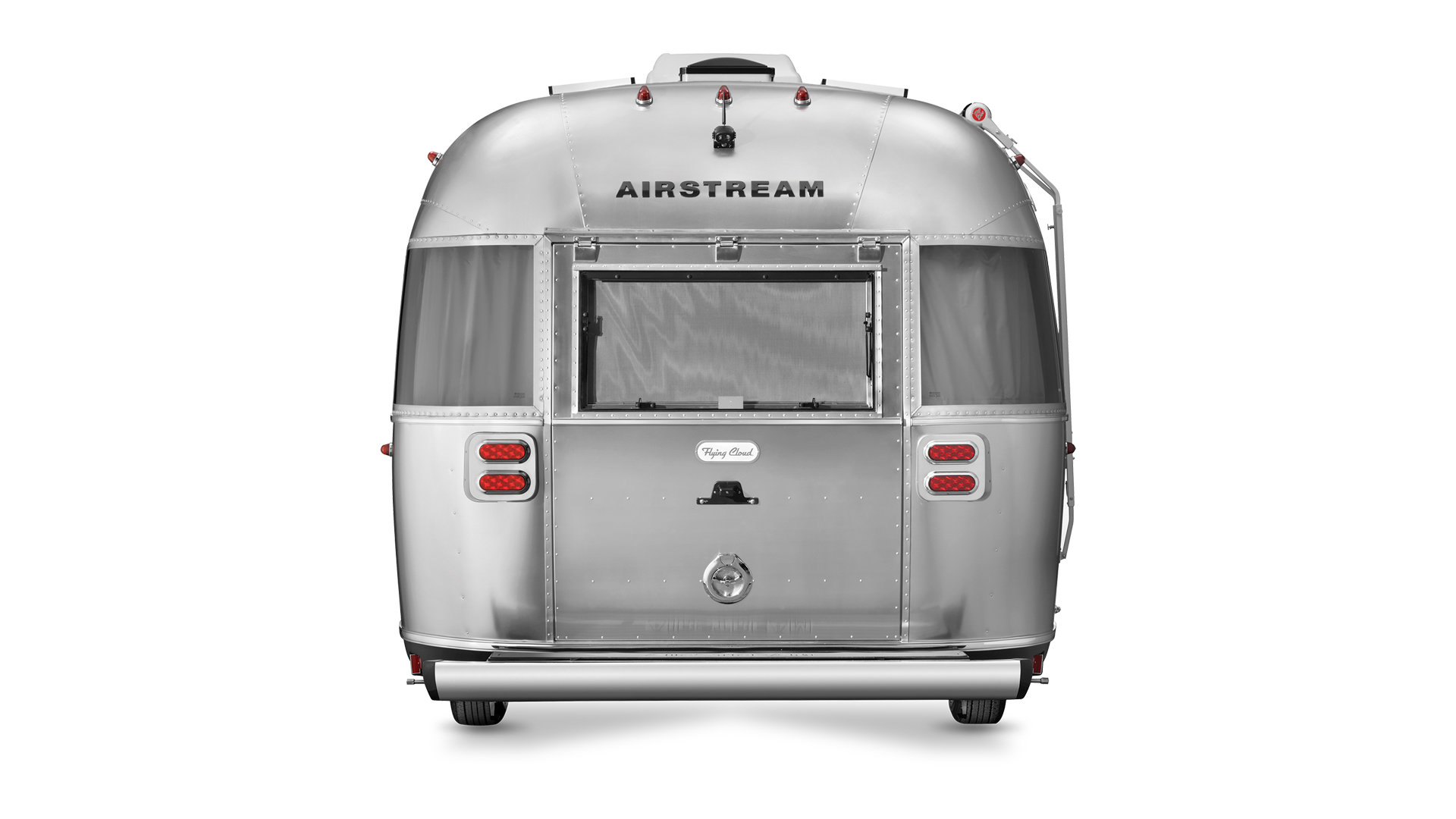 Airstream Travel Trailer Flying Cloud 25FB Twin Floorplan Rear view